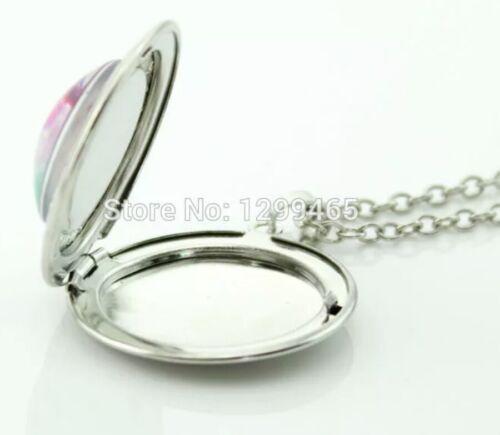 Unicorn Necklace marbel locket with gift poch  Birthday Christmas 722