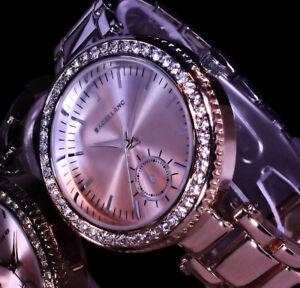 excellanc uhr damenuhr armbanduhr bicolor silber rose gold. Black Bedroom Furniture Sets. Home Design Ideas