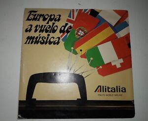 Alitalia-Airlines-Record-33-RPM-Italy-039-s-World-Airline-Vintage-Promo