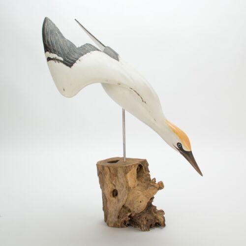 Archipelago Hand Carved Wooden Birds Gannet Diving
