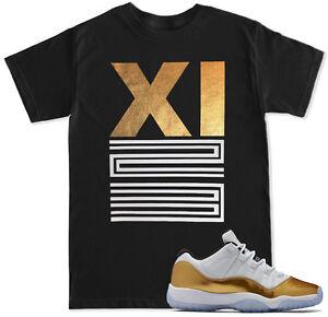 2d91c4af344415 XI 23 Gold T Shirt to match with Air Jordan 11 XI Closing Ceremony ...
