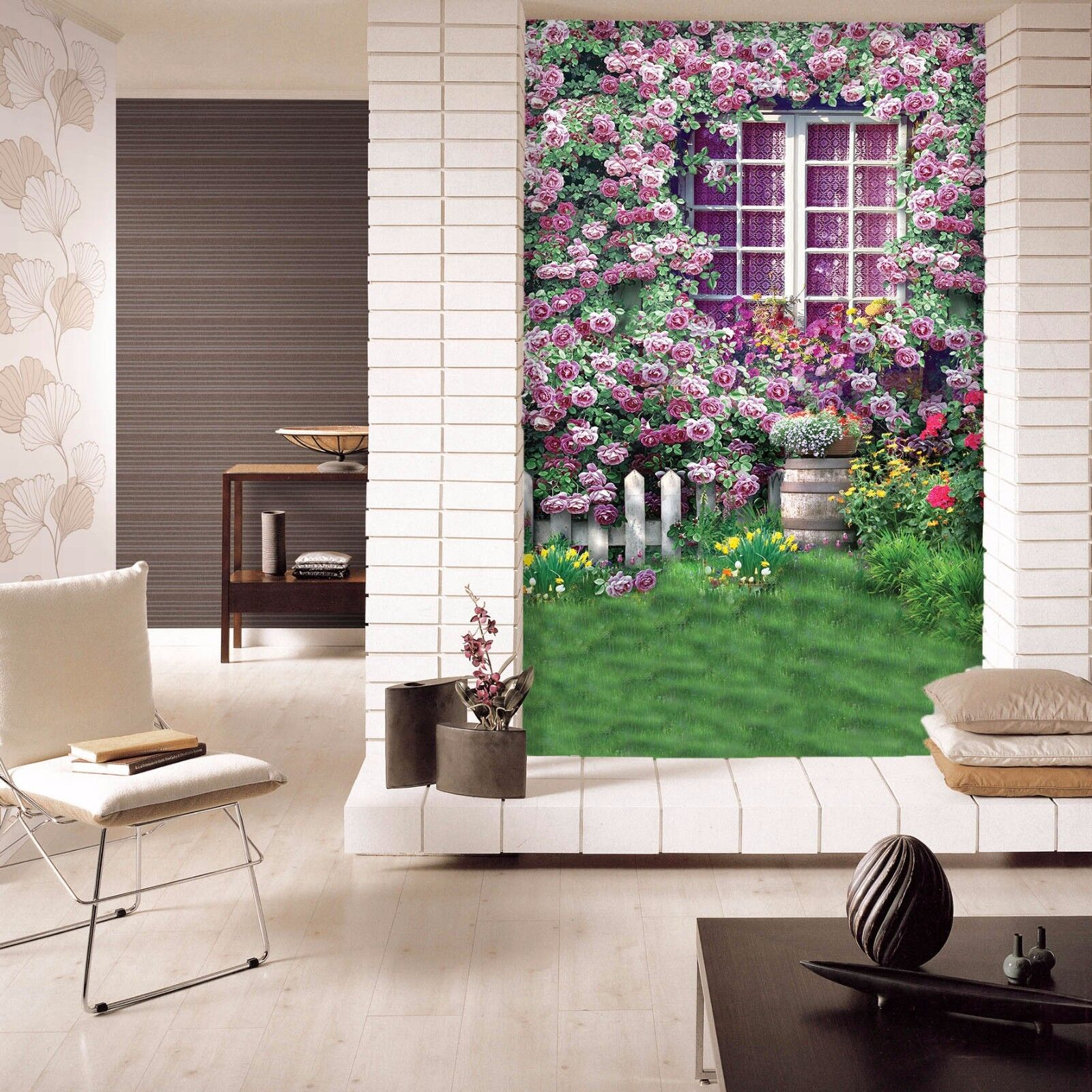 3D Lawn Flowers 9079 Wall Paper Wall Print Decal Wall Deco Wall Indoor Murals