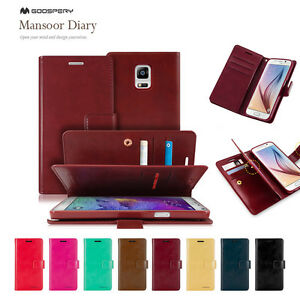 Samsung-S7-Edge-S6-S5-Note-5-Goospery-Clip-Wallet-PU-Leather-CARD-Gel-Case-Cover