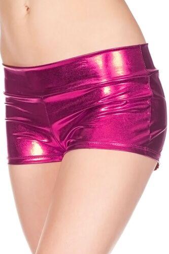 WOMENS LADIES AMERICAN SHINY DISCO  SHORTS//HOT PANTS POLE DANCE