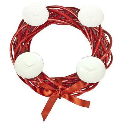 Corona - Decorativo Navidad Soporte Para Vela - Rojo Zsg81r1548