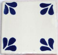 "90 Ceramic Clay Mexican Tiles Handmade Talavera 4x4"" C096"