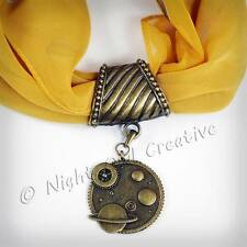 Bufanda ring.pendant, Clip, Bronce Antigua De Steampunk Celeste Retro Joyas