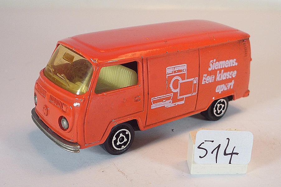 Majorette 1 60 Nº 244 VW volkswagen t2 Fourgon enré Siemens Nº 2  514