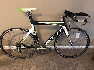 Details about 2012 Carbon Scott Plasma 20 Triathlon Bike Size Medium 54