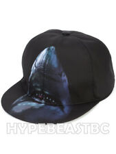GIVENCHY Hat Shark Print Canvas Baseball Cap Mens One Size Adjustable Blue  Black 84eeffa2308a