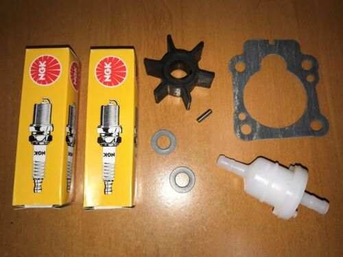 Impeller /& Spark Plugs Basic Service Parts for 8HP 9.8HP Tohatsu Outboard incl