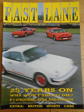 Fast Lane Jun 1988 Ferrari 328 GTB vs DeTomaso Pantera vs Porsche 911 Clubsport
