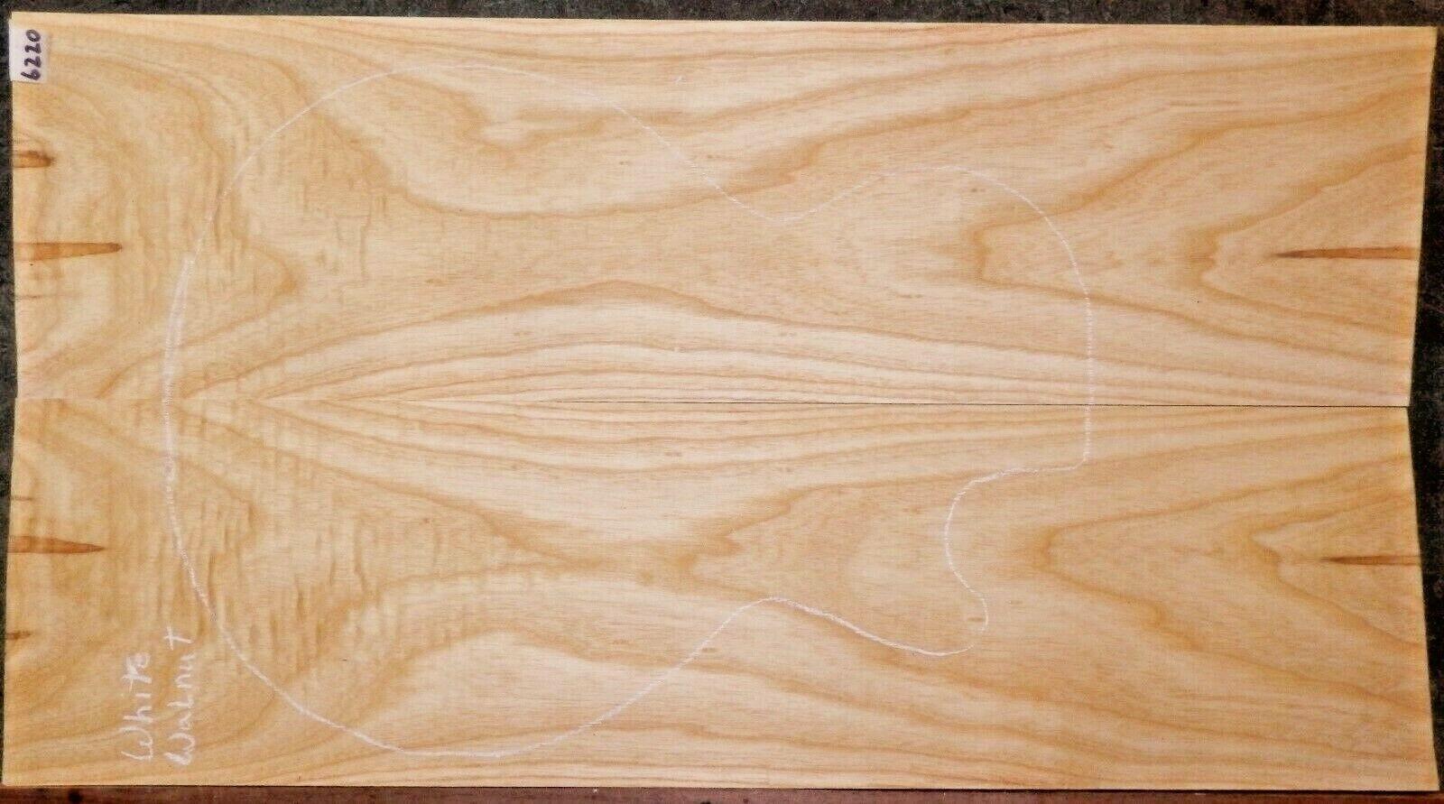 Albino Weiß Walnut Wood 6220 Luthier Solid Body Guitar Top Set 27x15-x.375