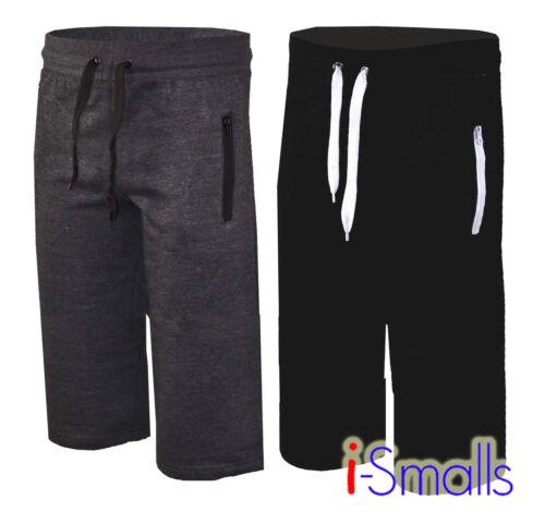 I-Smalls MEN/'S Estate Tinta Unita in Pile JERSEY 3//4 Lunghi Jogging Pantaloni corti S-2XL