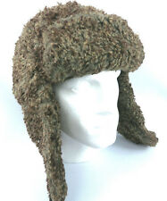 Mens Womens Outdoor Winter Sherpa Fleece Faux Fur Trapper Ski Hat - Size L - XL