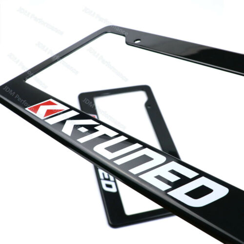 1 pair JDM Universal K-Tuned Plastic Racing License Plate Frame Tag Cover Holder