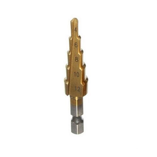 1pc Large HSS Steel Step Cone Drill Titanium Bit Hole Cutter 4-12//20//32 mm New