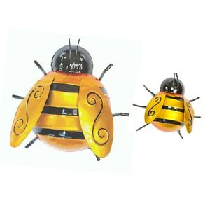 Details About Fountasia Set Of 2 Bumble Bee Garden Wall Art Decoration Outdoor Fence Patio