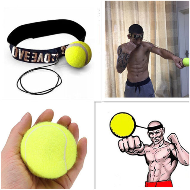 1x Boxing Fight Ball With Headband Reflex Reaction Speed Training Muscle Trainer