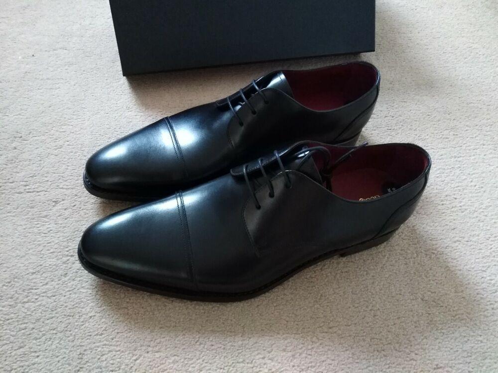 Design Loake Noir En Cuir Derby Lacets Chaussures, Uk 10