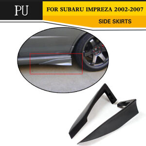 2PCS Car Side Skirts Aprons Rear Spats Strake Cover For Subaru Impreza WRX 02-07