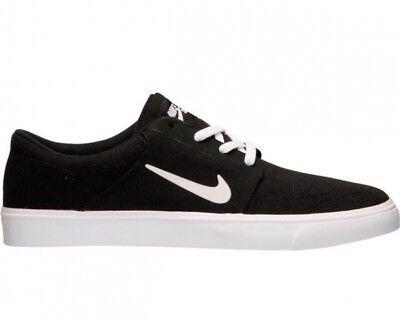 Nuovo da Uomo Nike Sb Portmore Scarpe Tela 723874 001 Nero | eBay