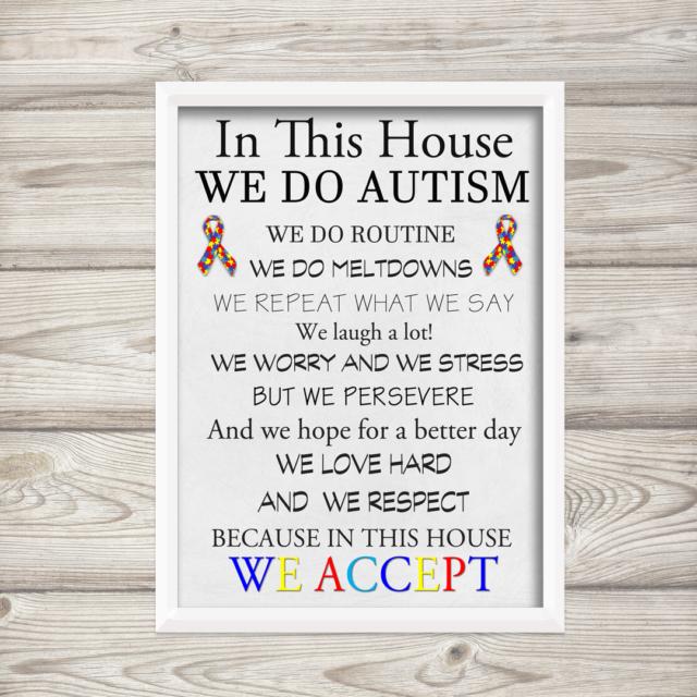 Autism A4 Print Home House Rules Wall Art Photo | eBay