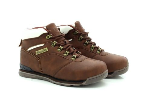 Glensdale Boys K7881 Synthetic Leather Brown Walking Hiking Boots