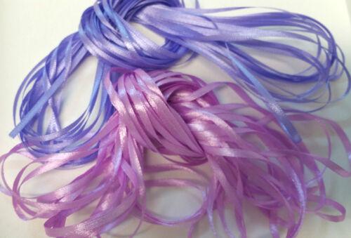 Craft Ribbon 10 metres NARROW RIBBON Lavender Shades