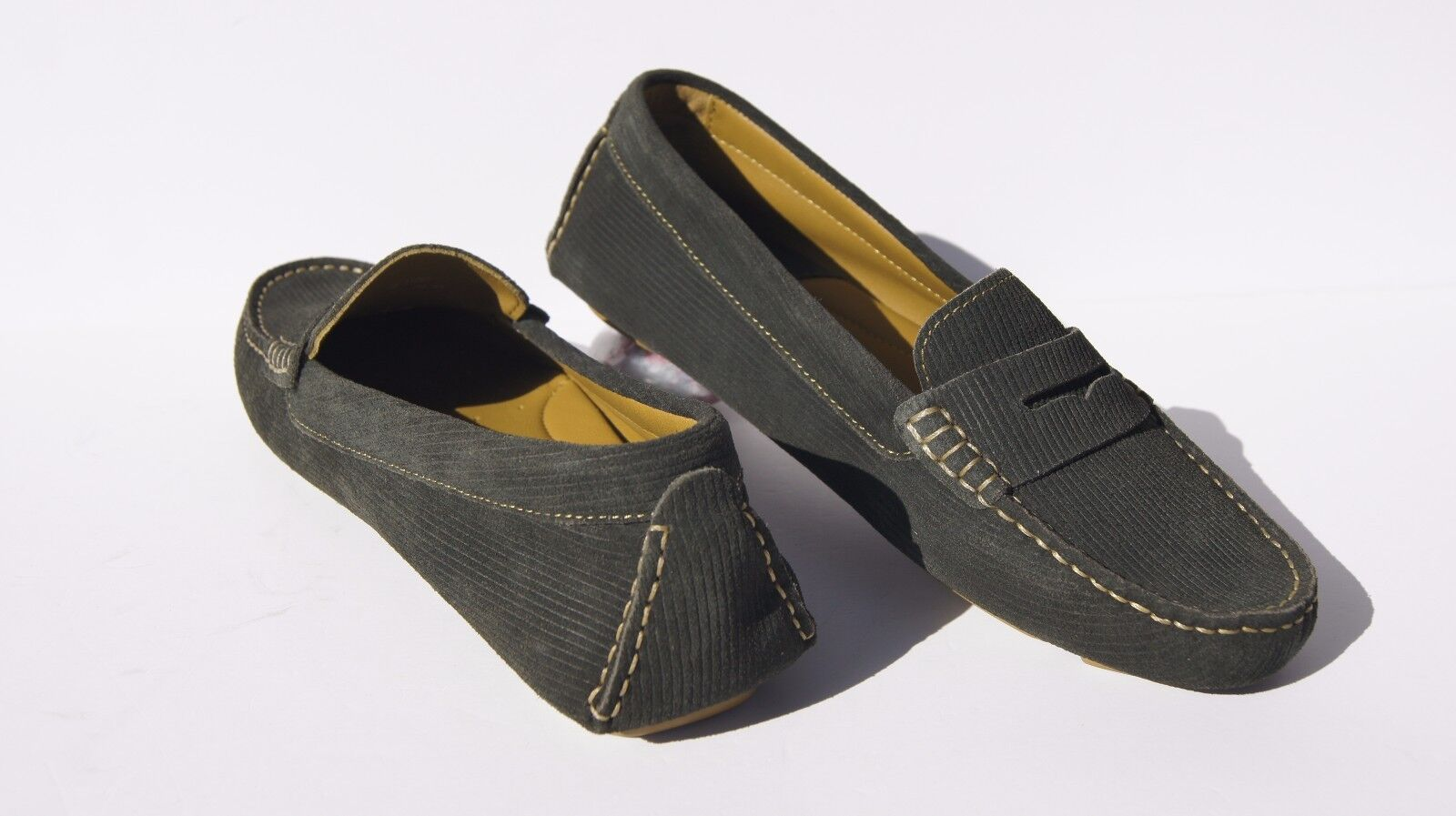 JOHNSTON & Penny MURPHY Damenschuhe Claire Quilted Penny & Driver Loafers Dark Grün Schuhes 6 1c326a