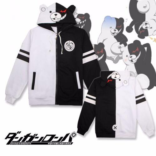 Anime Danganronpa Monokuma Cosplay Unisex Jacket Hoodie Sweatshirt Coat