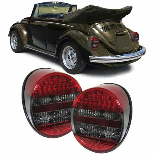 SMOKED LED REAR LIGHTS LAMPS FOR THE ORIGINAL VW BEETLE 1972 ONWARDS NICE GIFT