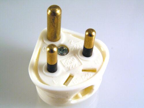 PMS 222 Secteur Britannique Rond 3 Broches Pour BS546 250 V 2 Amp 1 pièce OM1052