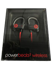 Beats by Dre -Powerbeats2 Black Wireless Bluetooth In-Ear Earbud Headphones (VG)