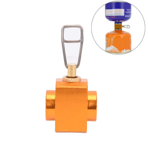 Gas valve canister shifter refill adapter gas burner camping stove cylinders WH