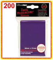 200 Ultra Pro Purple Deck Protector Standard Size Sleeves 4 Packs Card Rpg