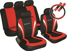 HYUNDAI i10 i20 i30 i40 Universal SPORTS PACK Car Seat Covers & extras RED