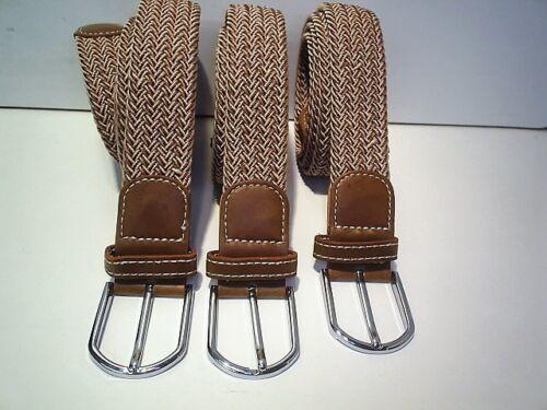 ladies gents  heavy duty  elastic stretch trouser  belts   colour dark cream