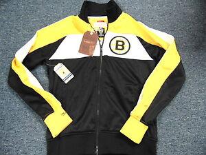 MITCHELL NESS NHL VINTAGE HOCKEY BOSTON BRUINS TRACK JACKET SIZE M ... 602b526b6