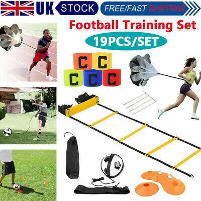 Sports Football Training Set Speed Agility Hurdles Poles Cones Ladders Equipment