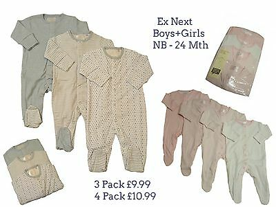 Babygrows Sleepsuits Baby Girls Boys Ne,xt 3//4 Pack 100/% Cotton Playsuit