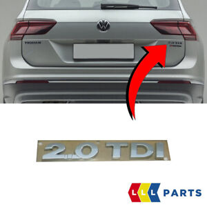 NEW-GENUINE-VW-TIGUAN-16-19-TRUNK-BOOT-LID-2-0-TDI-BADGE-EMBLEM-5TA8536752ZZ