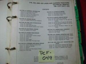 VINTAGE-1986-JOHN-DEERE-LAWN-amp-GARDEN-TRACTOR-MODEL-318-332-420-SERVICE-MANUAL