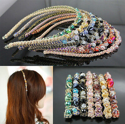 Women Girl Rhinestone Crystal Headband Barrette Accessories Hairpin Hair clip