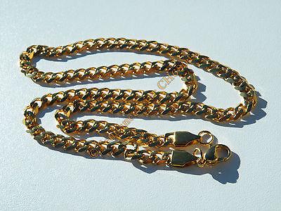 Chaine Collier 51 cm Pur Acier Inoxydable Doré Plaqué Or Maille Gourmette 5,8 mm