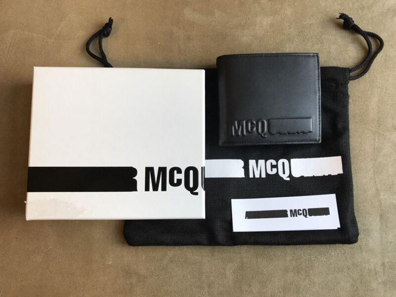 Alexander Mcqueen Mcq Schwarz Glatt Leder Mit Geprägt Mcq Logo