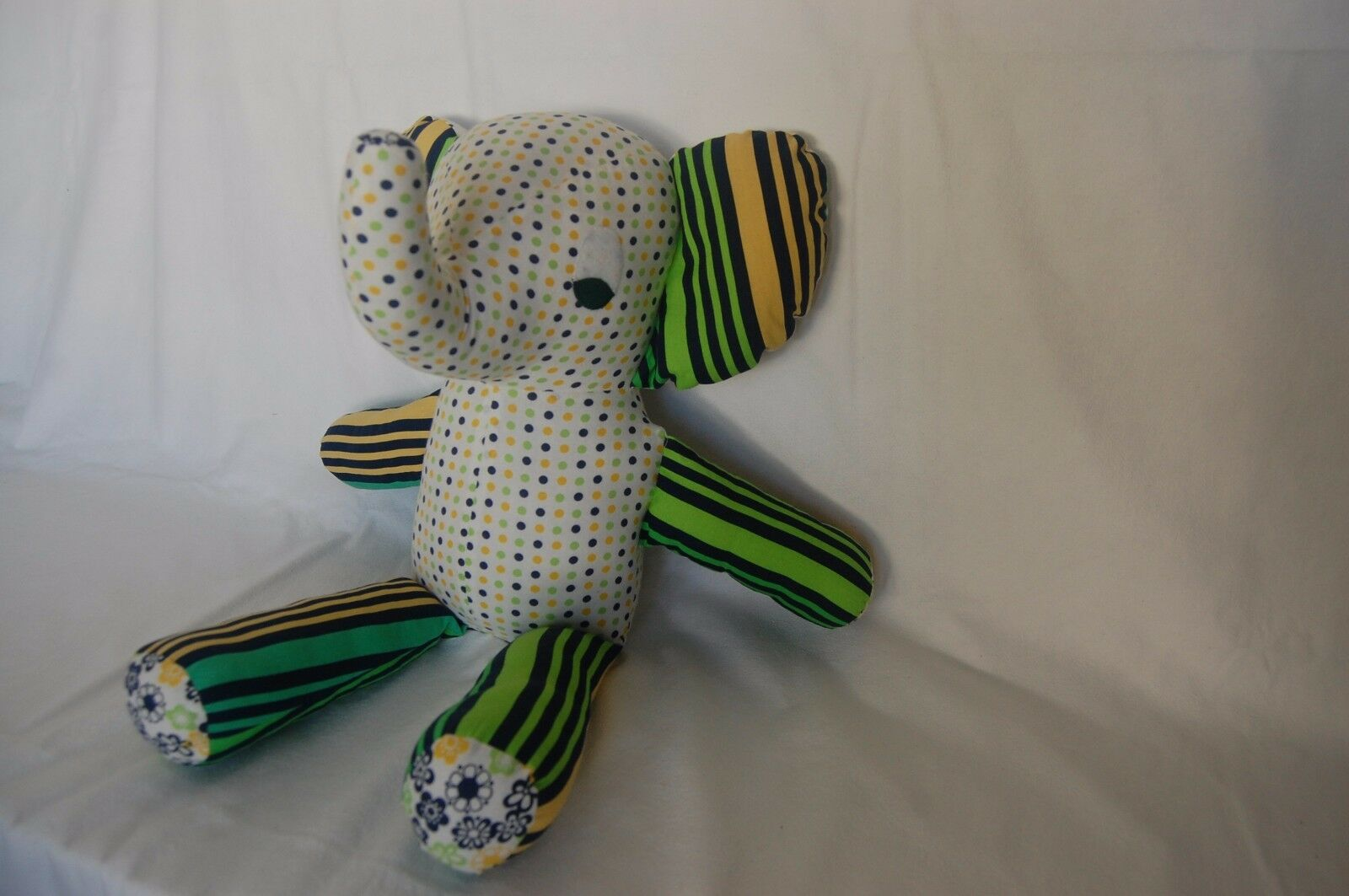 Stuffed Elephant - colorful spring - kids toy for  every age