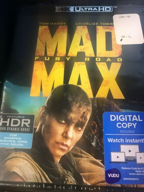 Mad Max Fury Road 4k Ultra HD Blu-ray Digital Copy 2015