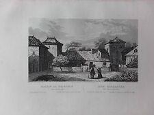 GRAVURE 1840 POLOGNE POLAND POLSKA MAISON DE KOPERNIK COPERNIC A FRAUENBOURG