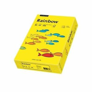 500 blatt kopierpapier rainbow a4 80g intensivgelb intensiv farbiges papier ebay. Black Bedroom Furniture Sets. Home Design Ideas